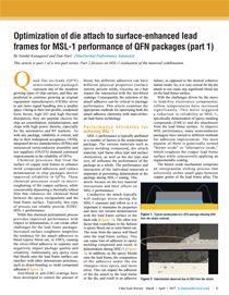 透过表面强化工艺优化的引线框架表面贴装性能 QFN 封装元件的性能(第1部分)