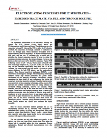 ELECTROPLATING PROCESSES FOR IC SUBSTRATES - EMBEDDED TRACE PLATE VIA FILL AND THROUGH HOLE FILL