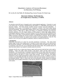 QUANTITATIVE ANALYSIS OF CORROSION RESISTANCE FOR ELECTROLESS Ni-P PLATING