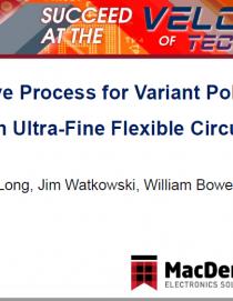 聚酰亚胺柔性电路板的超细线路半加成工艺(PPT)